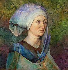 Woman with cap (jaci XIII) Tags: pessoa mulher pintura dürer morris woman person painting