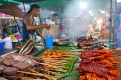 barbeque or satay (DOLCEVITALUX) Tags: philippinebarbeque satay sate barbeque bbq philippines panasoniclumixlx100 lumixlx100 food grilledfood meat seafood eat sometimessavoury streetpassionaward