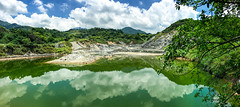 Sulfur Valley (@Jimweaver) Tags: mountain lake blue cloudy mirror hotspring panorama taipei taiwan yangmin bio sunny 硫磺谷 湖 鏡 陽明山 倒影 台灣 台北