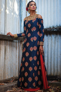 Printed aand embroidered salwars