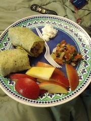 Breakfast In Bed (nnnicole32) Tags: picodegallo cheese mexican tortilla sourcream sausage breakfast recipe pepper salt salsa avocado bed