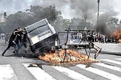 Bs. As. Once (10/1/17) (Santiago Sito) Tags: riot demonstration fuego fire disturbios urban social street