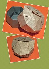 Teardrop box (mganans) Tags: origami tessellation box