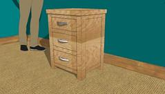 Boston bedside table (Oak Furniture King) Tags: furntiure 3d design solid oak products oslo kuba cottage boston sideboards console tables