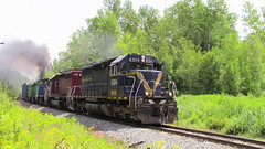 907 West through Rooth Rd, Tracy (MaineTrainChaser) Tags: 72017 nbsr nb trains train 907 west westbound mcadam subdivision