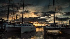 Marina Sunset (jijake1977) Tags: marina sailboat sailing water oahu hawaii travel adventure clouds sunset tamronaf16300mmf3563diiivcpzdmacro