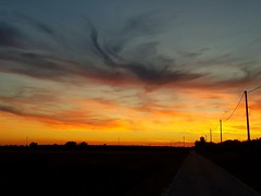 Eyes at the sky (mariaritam) Tags: nofilter sun sunset tramonti perlastrada