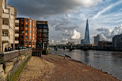 London Revisited (scottprice16) Tags: england london southbank northbank buildings architecture city shard thames river riverthames sky clouds bank shingle beach urban view landscape february winter leica leicaxvario