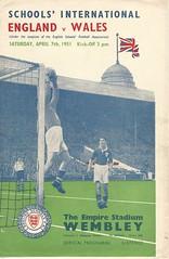 England v Wales[Schoolboy International] 1951 (Leslie Millman-Manchesterunitedman1) Tags: busbybabes england schoolboys