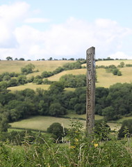 West Mendip Way (Mukumbura) Tags: footpath sign westmendipway mendips wells wookeyhole caves landscape signpost
