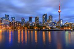 Toronto Blue Hour (NorthFla) Tags: toronto ontario canada lake lakeontario bluehour cntower torontowaterfront