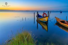 LAN0120 (pixFINEART) Tags: water ria aveiro torreira portugal ovar murtosa boat boats nature landscape sunrise reflections