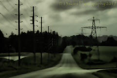 Safe Passage (HSS) (13skies) Tags: topaz fields abstract effect roads powerlines left right darkseries feel sky 13skies trees clouds towers poles hydro hydrolines distance dark lines