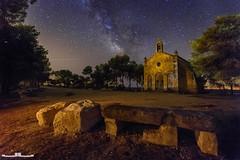 Ermita de la Mare de Deu de Montserrat (www.jorgelazaro.es) Tags: nocturna cielo milkyway ermita montserrat noche estrellas paisaje milky víaláctea castelldáns cataluña españa es