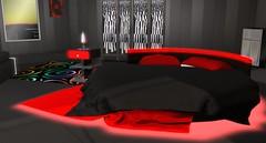 Midnight Fantasy (Akaesha Revnik) Tags: second life secondlife akaesha react animated furniture animations couple bed bath sofa set