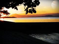 Jupiter's sunset (ramantino) Tags: doubleexposure sunset sunrise brazilianbeach beach jupiter astrophotography lake brazilianlake sun