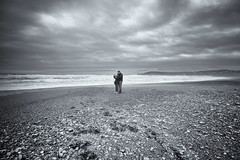 selfie by the sea (dorameulman) Tags: landscape landscapephotography monochrome blackandwhite atmospheric owenahincha cocork ireland canon outdoor beach haiku