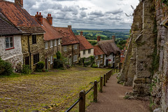Gold Hill (cantdoworse) Tags: gold hill shaftsbury wiltshire england landscape canon 60d cobblestones
