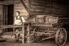 Back In Time (Wes Iversen) Tags: dearborn greenfieldvillage michigan barns fence fences hats men monochrome people ropes texture toning vests vintage wagons wood woodenwheels htt texturaltuesday nikkor18300mm