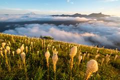 Slope and valley (Laura Jacobsen) Tags: alpinelakeswilderness bandera banderamountain hiking i90 iraspringtrail littlebandera mountains sunset trails washington wildflowers