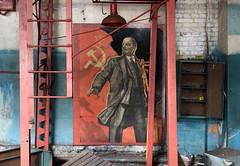 DSC02454 (I g o r ь) Tags: abandoned decay decayed rust urban forgotten lostplaces urbanexploration lenin ussr cccp sovietunion murals mosaic ленин communism