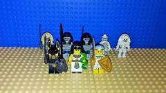 Egyptian Faction (Mana Montana) Tags: lego toys minifigures egyptian pharoah anubis cleopatra mummy skeleton