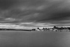 2017.07.14. Victoria Harbor (Péter Cseke (mostly OFF until July 23)) Tags: nikon d750 nature landscape water lake waterscape outdoors sky clouds longexposure blackandwhite monochrome mono travel ontario canada georgian bay victoria harbor marina firecrest nd filter formatt hitech scenery scenic beautiful amazing