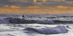 Sunset Surfer (JChipchase) Tags: surfer sunset gnarabup margaretriver nikon d750