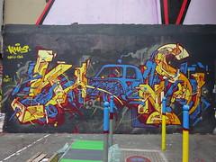 Kanos (juillet 2017) (Archi & Philou) Tags: kanos murpeint paintedwall streetart fontaineauroi paris11