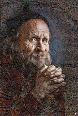 A face etched Mosaico (by zurera) Tags: digital hd art collage retratos portraid zurera people fotomontaje image autoretratos mosaic