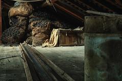 (leahlaurinda) Tags: watersidewoolenmill mill bobbins burlap sacks pennsylvania factory attic