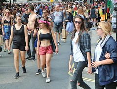 Pride London 2017 (Waterford_Man) Tags: hot sexy bare midriff midrfift glasses girl jeans lgbt lesbian gay bisexual pride london party pridelondon2017 shorts
