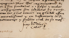 Las Casas Signature (Lawrence OP) Tags: libraryofcongress manuscript signature lascasas bartolome friar dominican priest humanrights handwriting