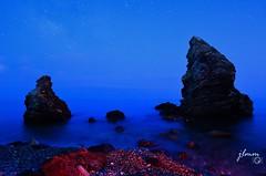 long exposition (jlmm_morales) Tags: nocturna nocturnal playa beach larga exposicion long exposition nikon d5100 malaga maro nerja andalucia españa spain paisaje landscape