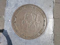 A sewer cover (birdtracks) Tags: morelia michoacán mexico