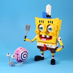 SpongeBob & Gary (LEGO 7) Tags: spongebob gary moc lego