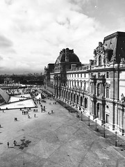The Louvre (HeatherRees) Tags: filmborn blackandwhite iphoneography iphone photography travelphotography travelling travel artgallery museum paris thelouvre