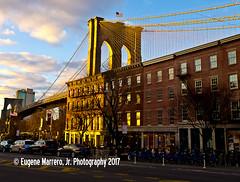 New York City (Themarrero) Tags: newyork nyc newyorkcity ny brooklyn brooklynbridge fultonstreet oldfultonstreet olympuse5 goldenhour sunset