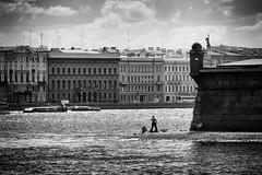 The Summertime - летний сезон (Valery Parshin) Tags: russia saintpetersburg canoneos600d tamron18200f3563diiivc valeryparshin neva river summer monochrome blackandwhite