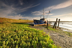 Essex Barling Hall Creek (daveknight1946) Tags: greatphotographers essex barling oldboat oldfishingboat landscape seascape summer mud weed