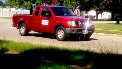 Pickup truck - HTT (Maenette1) Tags: pickup truck red street neighborhood menominee uppermichigan happytruckthursday flicker365