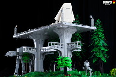 077 - Endor by night (dmaclego) Tags: lego star wars forest sanctuary moon endor project return jedi moc