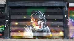 CORE246 (surreyblonde) Tags: streetart grasffiti cans spray walls croydon uk artsquarter croydonstreetart rise sony a6000 cr0 urban shutters core246 wellesbien face girl