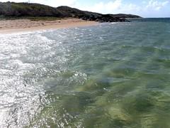In the water (thomasgorman1) Tags: beach water sea ocean island empty remote shipwreck shimmer sunlit lanai hawaii fugifilm
