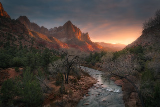 The Watchman Sunset - 7459