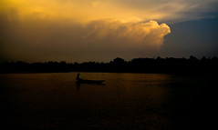 journey (mh.shoukhin) Tags: river water voyage boat boatman cloud sunset journey