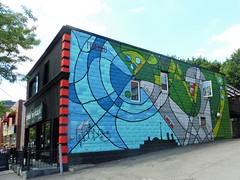 Public art in our neighbourhood, Toronto (Trinimusic2008 - stay blessed) Tags: trinimusic2008 judymeikle urban publicart mural graffiti summer july 2017 toronto to ontario canada