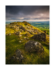 Cox Tor, Dartmoor, Devon, UK (SimonHMiles) Tags: dartmoor tor moor moorland heath rock granite sunset dusk sun view summit sky cloud summer