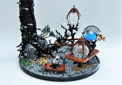 Star Wars Ring-worlds: Otoh Gunga Plasma Farm (Inthert) Tags: lego star wars moc vignette scene diorama underwater rock tree roots bubble plant fish bolder naboo planet otoh gunga plasma farm gungan hydrostatic orbs boss nass jarjar binks water lake force fields ringworlds