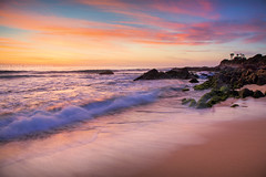 Eurobodalla Sunrise || NAROOMA || NSW (rhyspope) Tags: australia aussie nsw new south wales canon 5d mkii eurobodalla dalmeny narooma beach sea ocean waves sand sunrise sunset rhys pope rhyspope rocks sky clouds color colour marine coastal